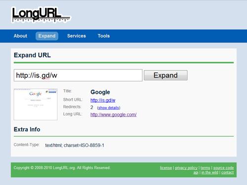 LongURL.com Screen Shot