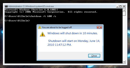 Shutting down your PC automatically using the Command Prompt