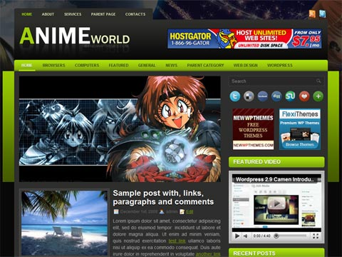10 Free Cool Gaming & Anime WordPress Themes - Wil-J.com